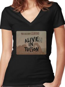 Alive in Tucson - road sign Women's Fitted V-Neck T-Shirt