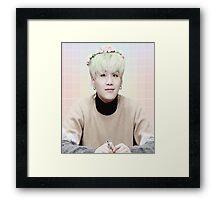 Flower crown suga Framed Print