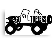 Go Topless Canvas Print