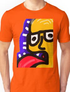 Tongue out off mouth dude Unisex T-Shirt