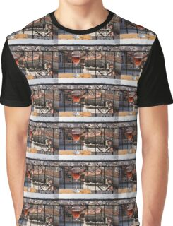A Dreamy Glass of Rose - Enjoying a Fabulous View from a Wrought Iron Balcony Graphic T-Shirt