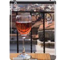 A Dreamy Glass of Rose - Enjoying a Fabulous View from a Wrought Iron Balcony iPad Case/Skin
