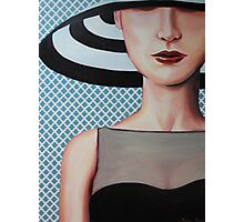hat girl Photographic Print