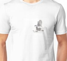 Snowy Owl catching prey Unisex T-Shirt