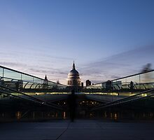 Even the Clouds Aligned with St Paul's Cathedral and the Millennium Bridge in London, UK by Georgia Mizuleva