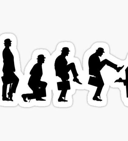 Ministry of Silly Walks T Shirt Sticker
