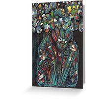Flower Bowl - Kerry Beazley Greeting Card