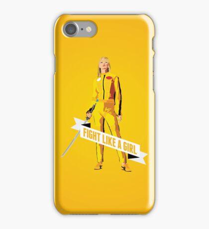 Fight Like a Girl: Beatrix Kiddo iPhone Case/Skin