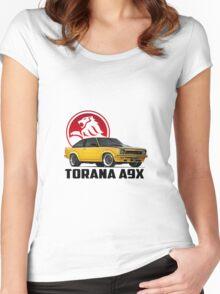 Holden Torana - A9X Hatchback - Yellow 2 Women's Fitted Scoop T-Shirt