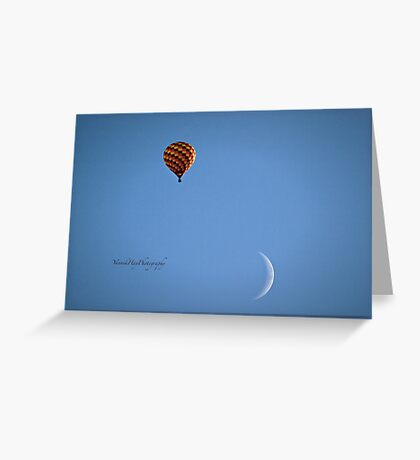 Fly Me To The Moon  - Hot Air Balloon Greeting Card
