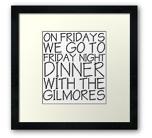 Dinner with the Gilmores Framed Print