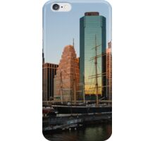 Just Before Sunrise - Manhattan Skyline and South Street Seaport Historic Ships iPhone Case/Skin