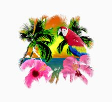 Parrot And Palm Trees Unisex T-Shirt