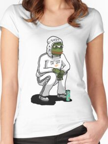 sadboy pepe Women's Fitted Scoop T-Shirt