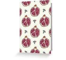 pomegranate garden Greeting Card