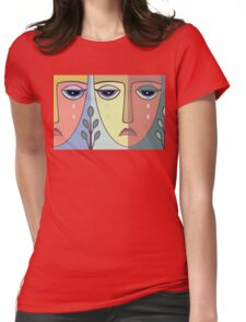 FACES #8 Womens Fitted T-Shirt