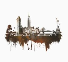 New York skyline brown One Piece - Long Sleeve