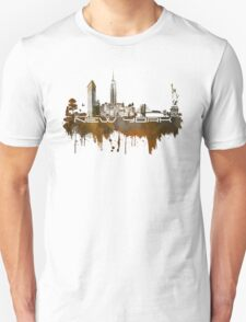 New York skyline brown Unisex T-Shirt