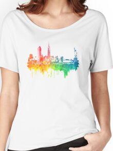 New York skyline color Women's Relaxed Fit T-Shirt