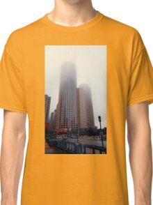 Foggy skyscrapers Classic T-Shirt