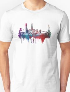 New York skyline blue Unisex T-Shirt