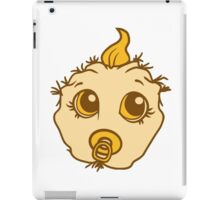 baby monster horror halloween monster ugly disgusting pacifier child girl boy funny face head iPad Case/Skin