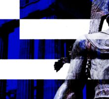 Greek flag Warrior  Sticker