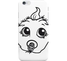baby monster horror halloween monster ugly disgusting pacifier child girl boy funny face head iPhone Case/Skin