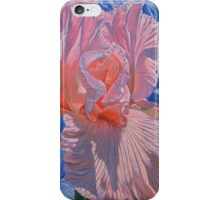 Pink and Blue Irises iPhone Case/Skin
