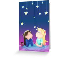 stars and stars Greeting Card