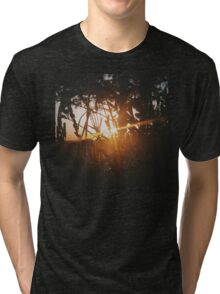 Sunset in forest Tri-blend T-Shirt