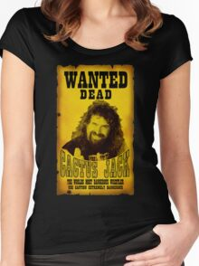 Wanted Dead Cactus Jack Women's Fitted Scoop T-Shirt