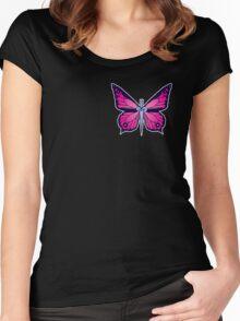 Ocean Butterflies Part 2 - Pale Pink Women's Fitted Scoop T-Shirt