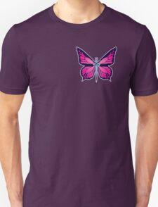 Ocean Butterflies Part 2 - Pale Pink Unisex T-Shirt