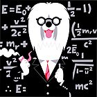 English Sheepdog as Einstein by drawgood