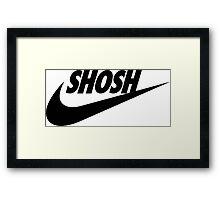 Sporty Shosh Black Framed Print