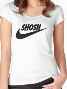 Sporty Shosh Black Women's Fitted Scoop T-Shirt