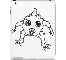 baby monster horror halloween monster ugly disgusting pacifier child girl boy funny iPad Case/Skin