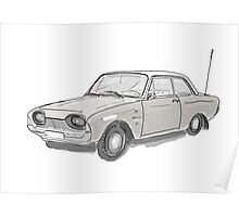 Old car Ford Poster