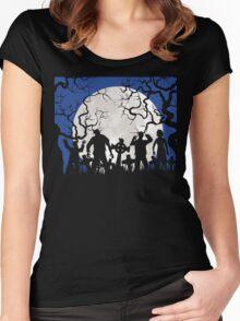Zombie landscape Women's Fitted Scoop T-Shirt