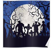 Zombie landscape Poster