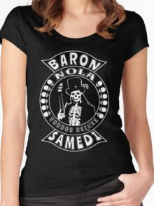 Baron Samedi Women's Fitted Scoop T-Shirt