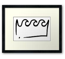 King Wavy  Framed Print