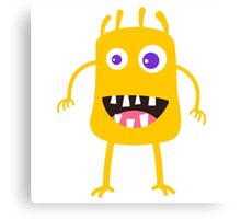 Goofy yellow monster Canvas Print