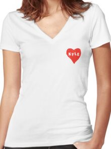 Kyle  Women's Fitted V-Neck T-Shirt