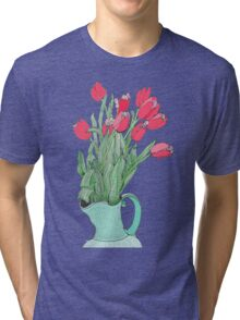 Springtime Tulips * Tri-blend T-Shirt