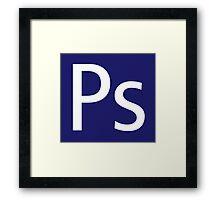 Ps - Photoshop Framed Print