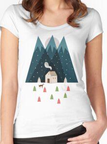 Winterworm Women's Fitted Scoop T-Shirt
