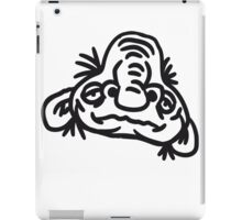 old opa face man ugly disgusting monster horror halloween comic cartoon funny iPad Case/Skin