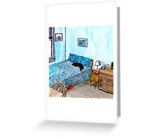 Blossom in the Blue Room Greeting Card